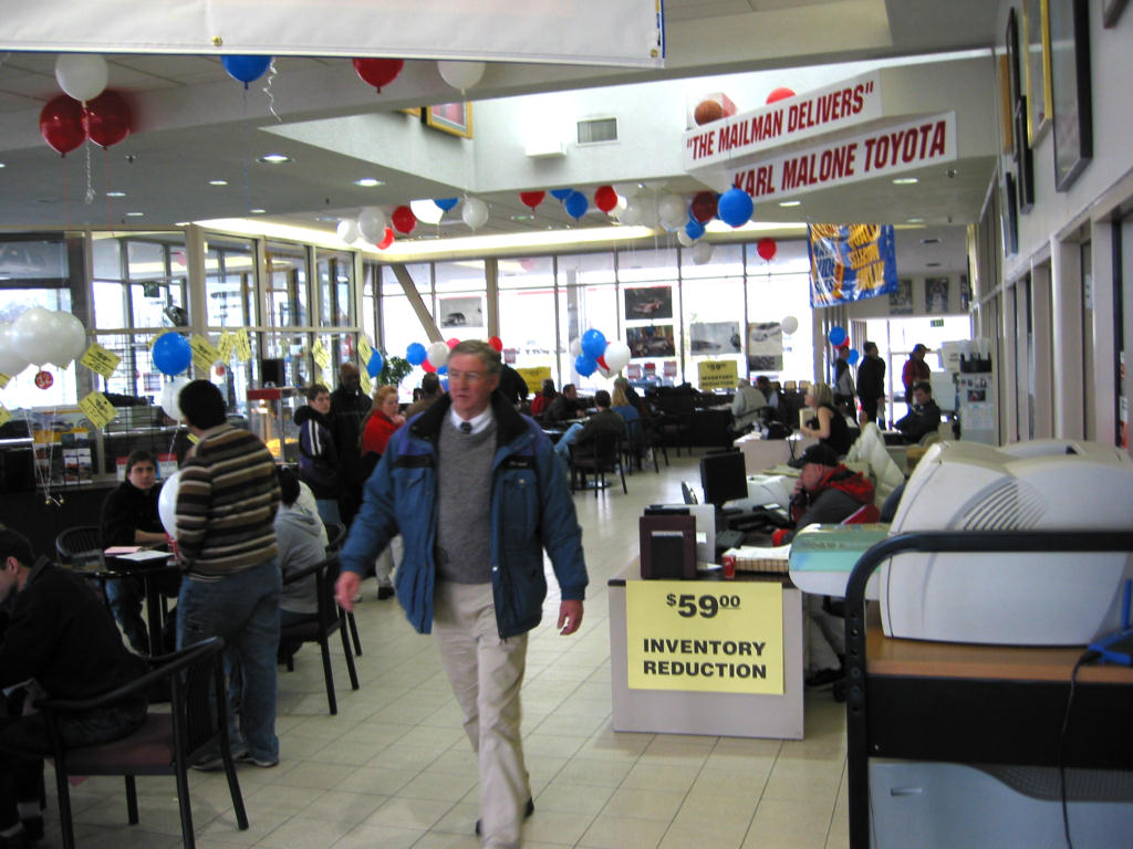Karl Malone Toyota Record Sale!!!